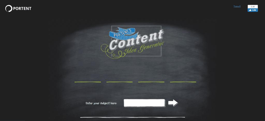 A screenshot of Portent's Title Generator tool.