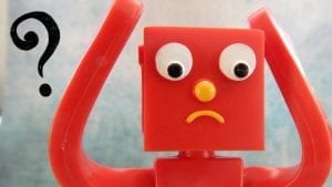 This puzzled robot ponders - what's the difference between marketing, advertising, and PR?