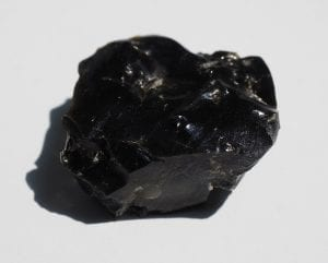 This is what obsidian rock looks like.